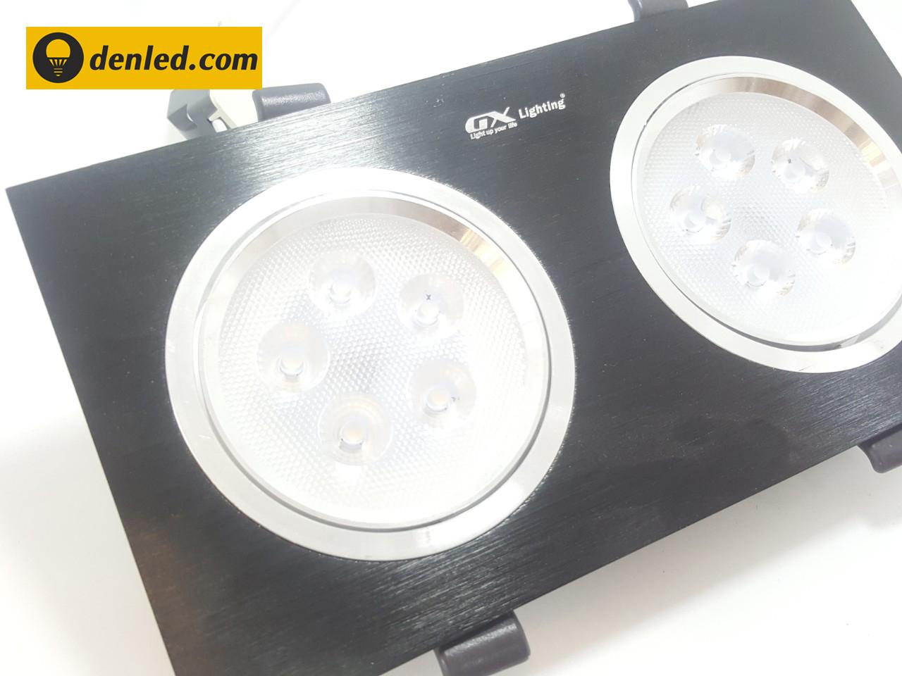 Đèn led âm trần đôi THD-2F501